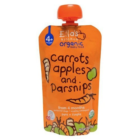 Ella's Kitchen Organic Pureed Baby Food Pouch - Stage 1 Apple Carrot Parsnip 3.5oz (7 pack)