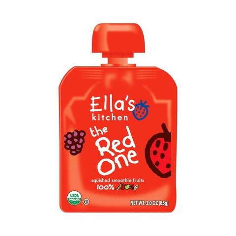Ella's Kitchen Organic Pureed Baby Food Smoothie - The Red One 3oz (7 pack)