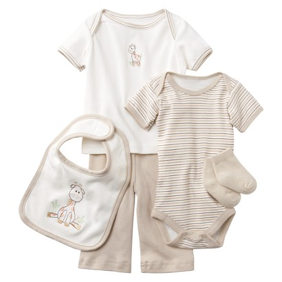 Hudson Baby™ Newborn 6 Piece Mesh Bag Gift Set - Brown 0-3 M