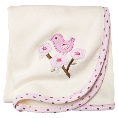 Hudson Baby™ Newborn Girls' Organic Receiving Blanket - Pink