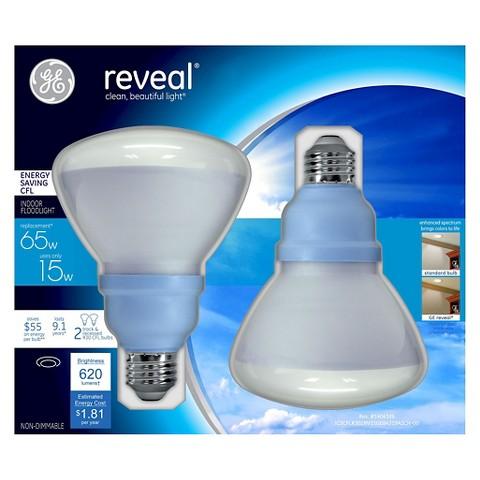 ge reveal 60 watt r30 cfl light bulb 2 pack target. Black Bedroom Furniture Sets. Home Design Ideas