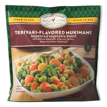Archer Farms Steam-in-bag Teriyaki-Flavored Mukimame Seasoned Vegetable Blend 12oz