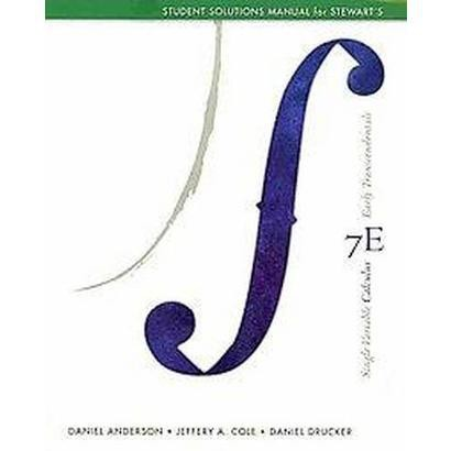 Single Variable Calculus Early Transcendentals (Student / Solution Manual) (Paperback)