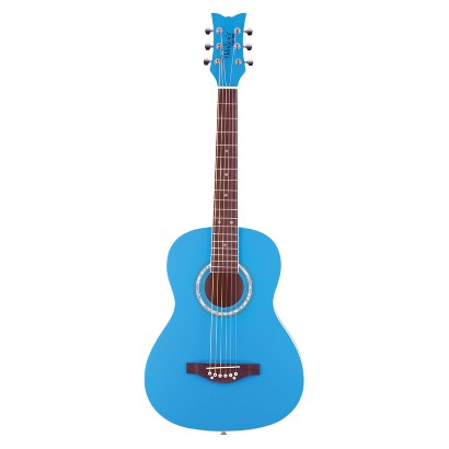 Daisy Rock 14-7402 Debutante Junior Miss Short Scale Acoustic Guitar - Cotton Candy Blue