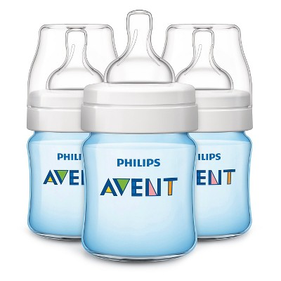 Philips Avent Classic+ Bottle, Blue - 9oz (3pk)