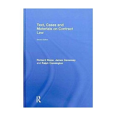 Text, Cases and Materials on Contract Law (Hardcover)