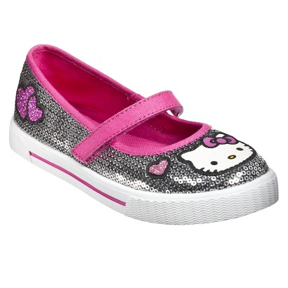 Girl's Hello Kitty Sequin Mary Jane Shoes - Silver