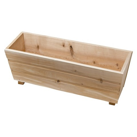 Flared Window Box Planter - Cedar