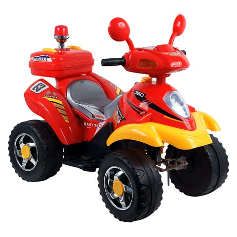 Lil' RiderT 360 Battery Operated 4 Wheeler - Red/Yellow