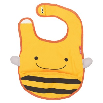 Skip Hop Zoo Little Kids & Toddler Tuck-Away Bib, Bee