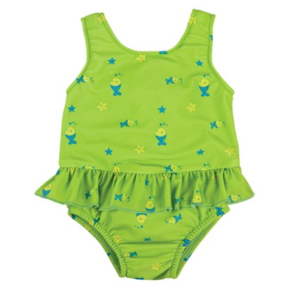 Bambino Mio Swim Suit Nappy  -  Lime Fish
