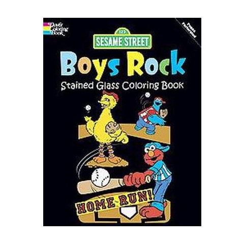 Sesame Street Boys Rock Stained Glass Coloring Book (Paperback)