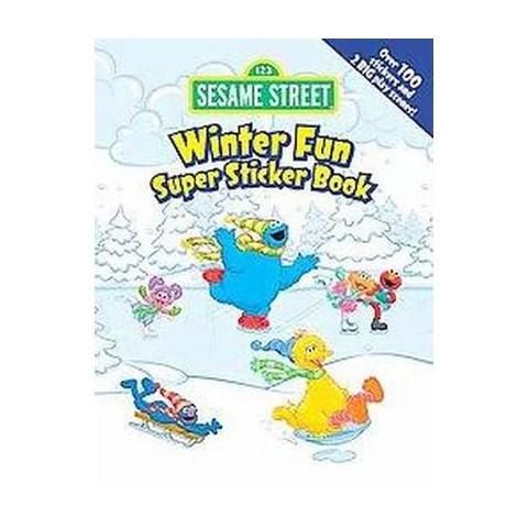 Sesame Street Winter Fun Super Sticker Book (Paperback)