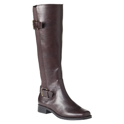 Women's Merona® Magaska Riding Boot - Brown 10