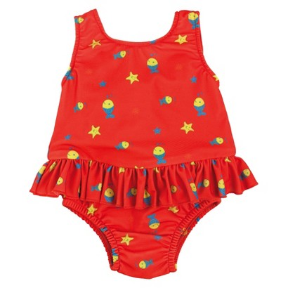 Bambino Mio Swim Suit Nappy  -  Red Fish
