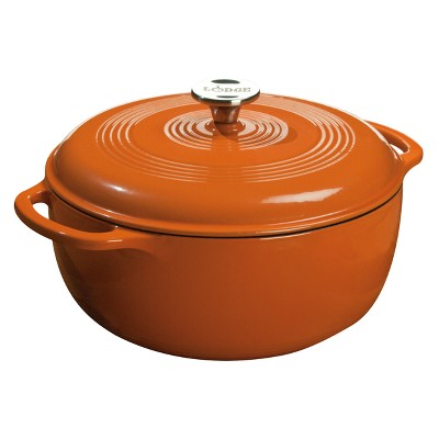 Lodge Color Enamel Dutch Oven - Pumpkin (6qt)