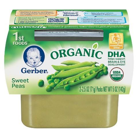 Gerber 1st Foods Organic Sweet Peas  - 5 oz. (8 Pack)