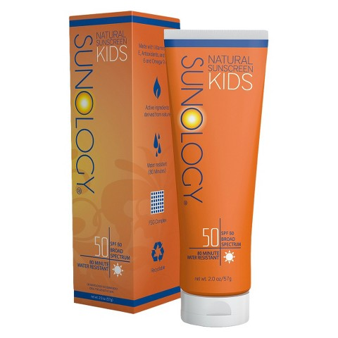 Sunology Natural Sunscreen Lotion for Kids SPF 50 - 2 oz