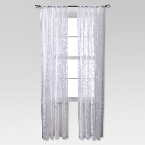 Threshold™ Botanical Burnout Sheer Curtain Panel