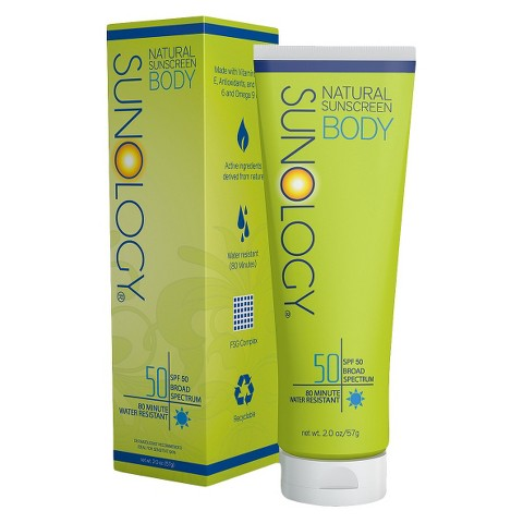 Sunology Natural Sunscreen Lotion for Body SPF 50 - 2 oz