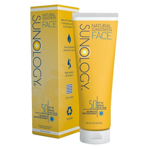 Sunology Natural Sunscreen Lotion for Face SPF 50 - 2 oz