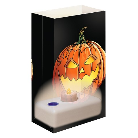 Battery Light Luminaria Kit - Black/Orange (12 Ct)