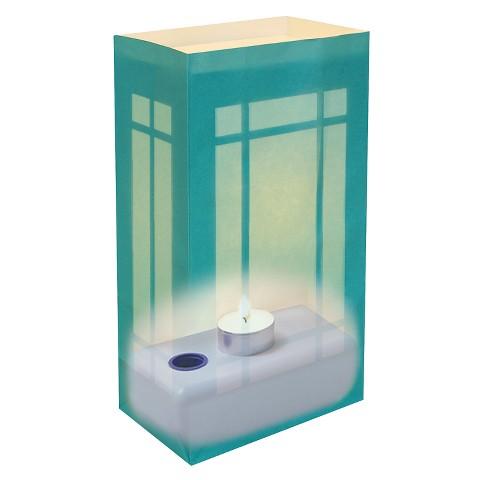 Luminaria Lantern Kit - Teal (12 Count)