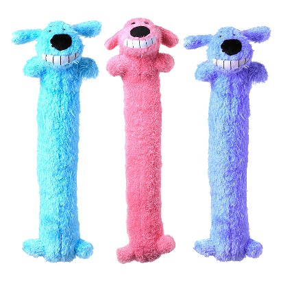 "Loofa Dog Toy 6"" 3-pk."