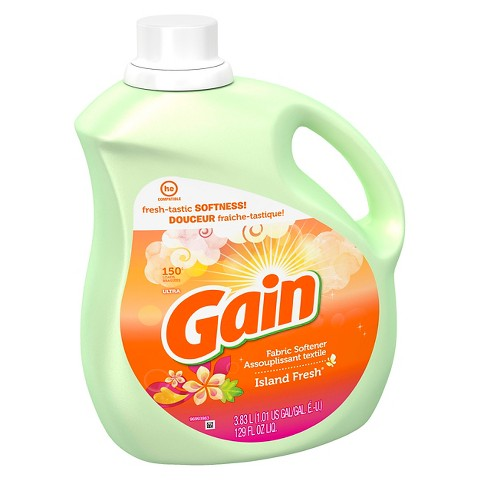 Gain with FreshLock Island Fresh Scent Liquid Fabric Softener 129 oz