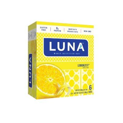 Luna Bar Lemon Zest Nutrition Bar - 6 Count