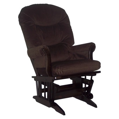 Dutailier Ultramotion Sleigh Glider - Espresso and Brown