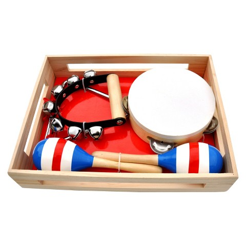 Schoenhut Piano Band-in-A-Box ,Maracas, Triangle, Bells, Tambourine
