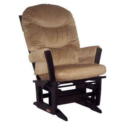 Dutailier Ultramotion Modern Glider Multiposition, Recline - Espresso and Lt Brown