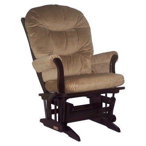 Dutailier Ultramotion Sleigh Glider Multiposition - Espresso and Lt Brown