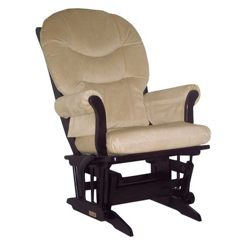 Dutailier Ultramotion Sleigh Glider Multiposition, Recline - Espresso and Beige