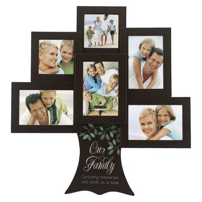 6 Opening Family Tree Collage Frame - Brown