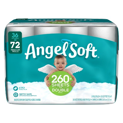 Angel Soft® 2-Ply Septic Safe Unscented Bathroom Tissue - 36 Rolls