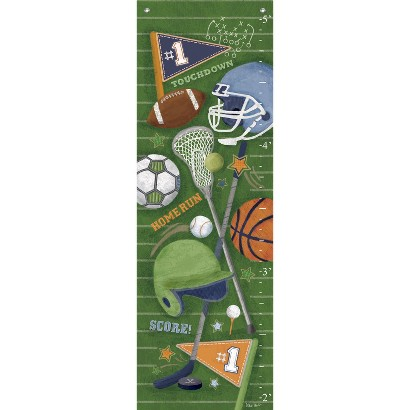 """Oopsy Daisy too Sports Equipment Growth Chart  - 13x39"""""""