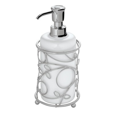 InterDesign Twigz Soap Pump - White/Silver