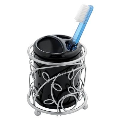InterDesign Twigz Tooth Brush Holder - Black/Silver