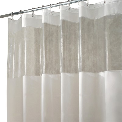 InterDesign Hitchcock Soft-Touch EVA Shower Curtain - Frost/Clear