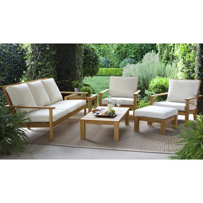 Smith hawken premium quality solenti teak lou target for Outdoor furniture without cushions