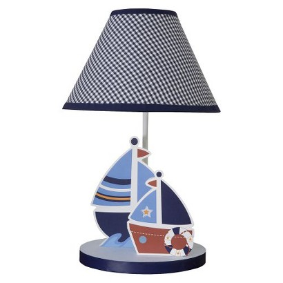 Bedtime Originals Red, White, Navy and Blue Sail Away Lamp w/Shade