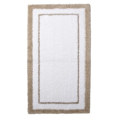 "Bath Rug - Light Taupe/True White (19.3x34"") - Fieldcrest™"