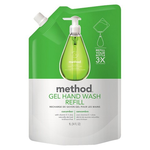 Method Cucumber Gel Hand Wash Refill 34 oz