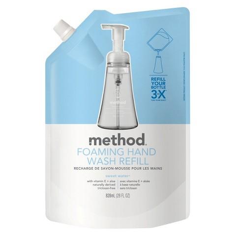 method foaming hand wash refill sweet water 28oz