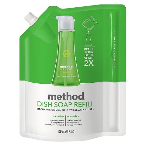 Method Cucumber Dish Soap Refill 32 oz