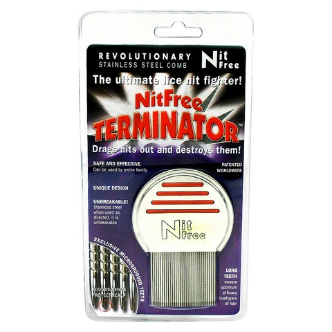 Nit Free Terminator Stainless Steel Lice Comb