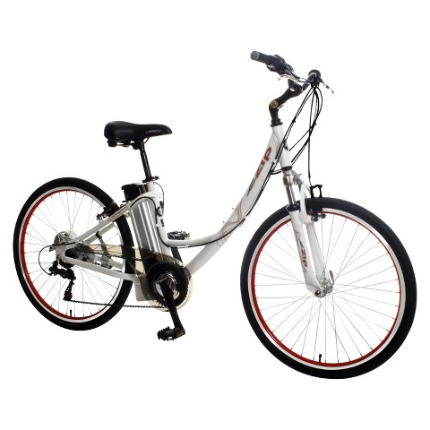 "ezip Adult Skyline Low Step eBike - Silver (26"")"