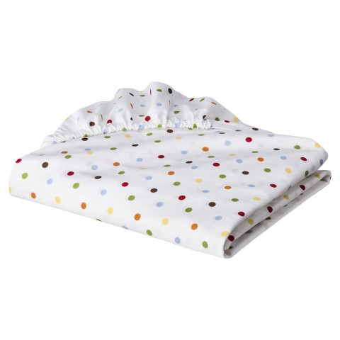Bacati Multi with chocolate Baby & Me Dots Crib fitted sheet